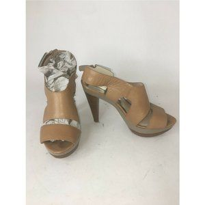 MICHAEL KORS CARLA Platform Open Toe Heels Sandals